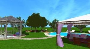 Grande Villa contemporaine avec piscine poster