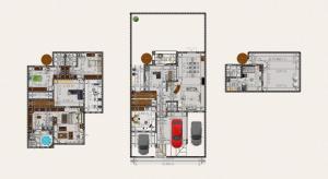 casa 3 plantas poster