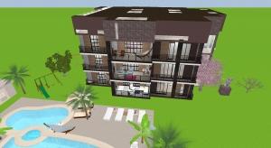 Petit immeuble terrasses 2 poster