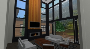 Modern Mountain Home poster