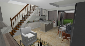 2 - Semi open - kitchen by garden - Imported poster