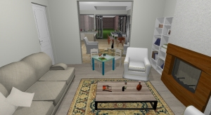 5 - Open plan with doors into front room - Imported poster