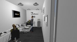Oficina 20 pies intermedia poster
