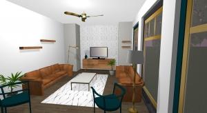 Living Room_ Mid-Century Modern poster