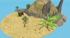 Island hut poster
