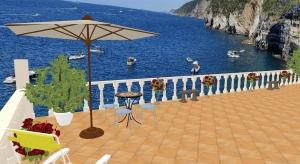 Villa amalfi coast poster