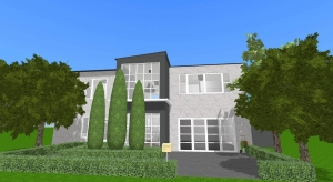 unfurnished modern home, use 1217 modern if you want to furnish it i want to see it            poster
