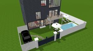 Grande maison tres moderne pour 4 à 3 étages poster