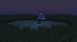 Proj12 青の池に臨む家 poster
