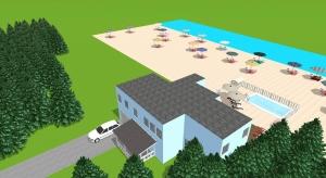 Cute family beach house  poster