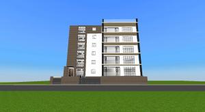 luxury apartment building  poster