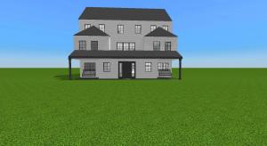 Modern farm house poster