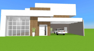modern house for you to decorate poster