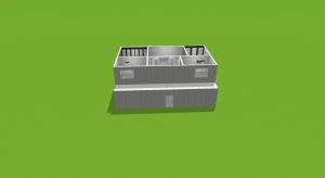 Modern brick 4 bed house poster