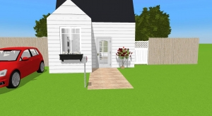 One person cottage poster