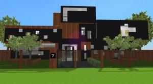Modern villa poster