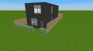 shipping container house 5×12m (4 containers) poster