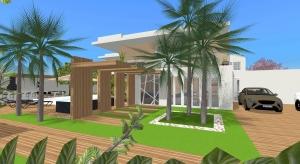 Casa de praia da família Andrade poster