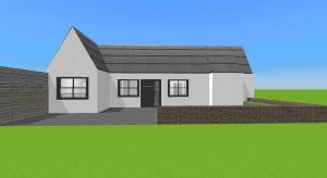 Modern bungalow poster