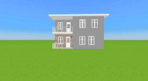 Small empty house poster