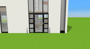 Modern summer vacation house           - Copy poster
