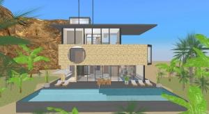 ☑️ villa au coeur du désert ☑️ poster