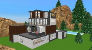 ☑️ Maison moderne en montagne  ☑️ poster