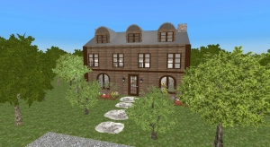 Southern Postmedieval English Inspired Home (Modernized interior) poster