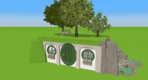 Hobbit house poster