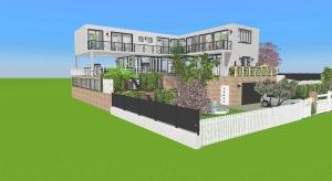 Maison multi-level garden poster