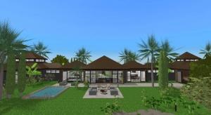 Bali beach house poster