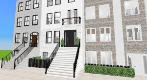NY Townhouses poster