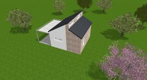 Modern tiny house poster