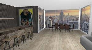 Decorated New York Penthouse poster