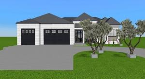 Modern White Brick Home poster