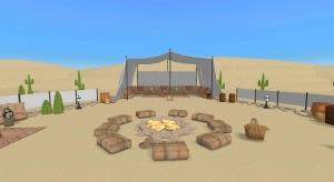 Nomad Arab Tent poster