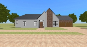small modern starter home  poster