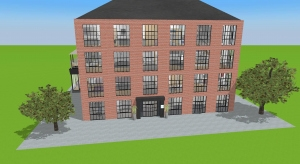 Warehouse conversion loft apartments and facility poster