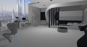 Futuristic loft poster