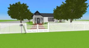 Cute little farm house poster