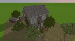 Abandoned farmhouse. poster
