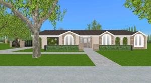 California Mission Villa poster