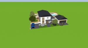 Einfamilienhaus poster