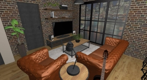 Industrial Apartment in New York poster