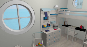Kids room in a boat poster
