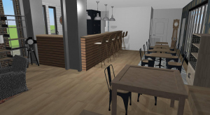 Cafe with apartments V1 poster