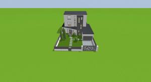 modern house - empty poster