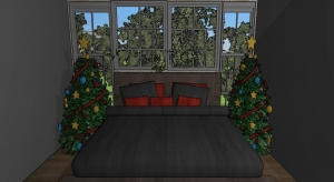 christmas party house poster